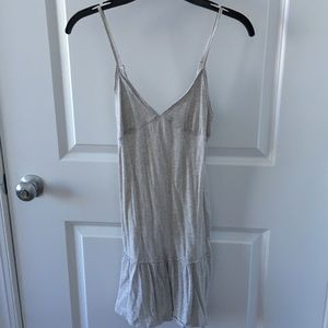 American Eagle grey/white dress